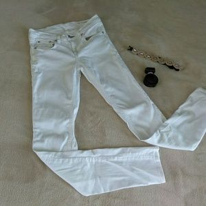Rag & Bone white skinny jeans luxury denim 26